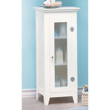 tall bathroom cabinets ebay. bathroom storage cabinet white wood frosted glass door 3 shelves 33\ tall bathroom cabinets ebay