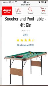 4 foot 6 inch snooker pool table