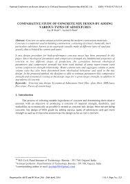 Concrete Mix Design Conclusion Pdf Comparative Study Of Concrete Mix Design By Adding