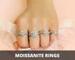 moissanite enement rings