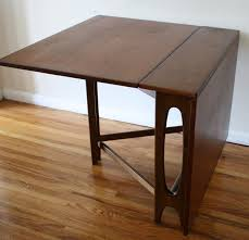 fabulous folding wood dining table with fold down dining table all old homes