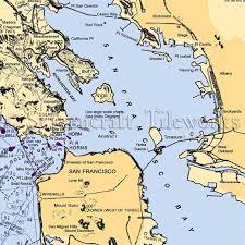 California San Francisco Richardson Bay Nautical Chart Decor