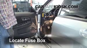 interior fuse box location 2004 2007 subaru impreza 2005 subaru Fuse Box Removal locate interior fuse box and remove cover fuse box removal 2014 silverado