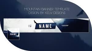 Youtube Name Design Mountain Free Youtube Banner Template Kelv Designs
