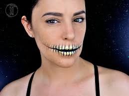 easy skeleton mouth makeup tutorial