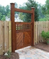 Fences And Gates Ideas Backyard Fence Gate Design Ideas Backyard