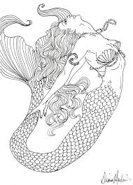 Small Picture Realistic Mermaid Coloring Pages coloring pages coloring