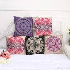 Flower Designs For Pillow Cases Retro Floral Designs Pillow Case Bohemian Bed Flower Pillowcover Cotton Linen Ethnic Car Pillow Cover Bedroom Sofa Throw Cushion Dropship Disposable