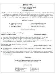 Medical Coding Specialist Sample Resume Podarki Co