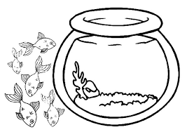 Small Picture School of Fish Outside Fish Bowl Coloring Page Download Print