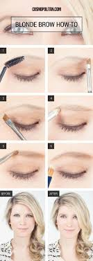 eyebrow makeup for blonde s how to fill in blonde eyebrows