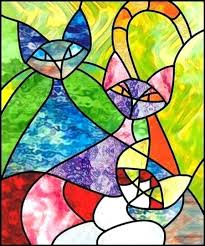 stained glass designs easy stained glass cats stained glass patterns pattern ideas glass bottles fused glass stained glass designs