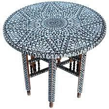 mother of pearl coffee table round coffee table beautiful mid century mother of pearl coffee table