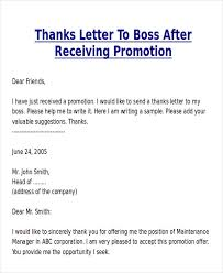 Sample Thank You Letter For Promotion 5 Examples In Word Pdf