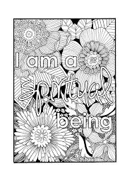 Small Picture I Am a Spiritual Being Self Affirmation Adult Coloring Page