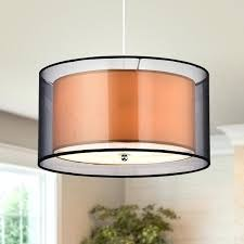 new double drum shade chandelier or jonah 3 light double drum shade pendant 55