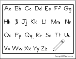 Chart Manuscript Aa Zz With Arrows Zb Style Font