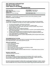 Resume Examples For Teller Position Teller Experience Resume Resume ...