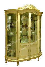 Living Room Cabinets With Glass Doors Oval Curio Cabinet 4 Doors Living Room Cabinets With 3 Glass