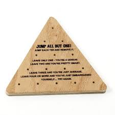 Wooden Triangle Peg Game Triangle Peg Game PGTP100 Blouin Displays 44