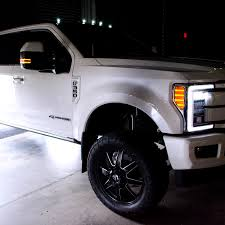 2017 F250 Cab Light Install Ford Super Duty 5 Piece Cab Lights Led Smoked Lens In White