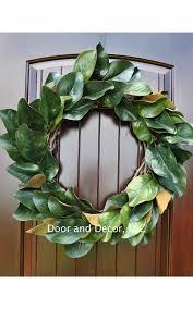 wreaths for front doorsAmazoncom Handmade Magnolia Leaf Wreath for Front Door or