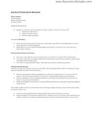Sample Advertising Account Executive Cover Letter Sample Cover Letter For Account Executive Mwb Online Co