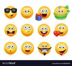 smileys set smiley faces vector image