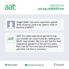 Questions To Ask On Work Experience Maatchat Ask Your Questions About Becoming A Full Aat