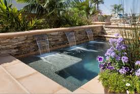 sheer water feature stacked stone