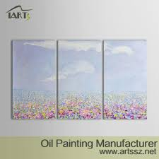 original hand painted modern abstract oil painting flowers sky landscape wall art canvas painting