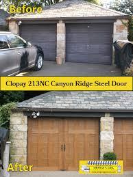 clopay 213nc canyon ridge steel door steel doors garage doors