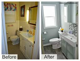 Diy Bathroom Remodel Big Items Like The Vanity Top And Tile Can - Bathroom remodel before and after pictures