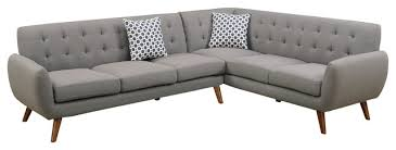 mid century modern sectional couch. Simple Century Modern Retro Sectional Sofa Taupe Gray With Mid Century Couch Houzz