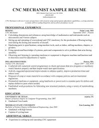machinist sample resume resume setup