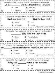 Pronoun Antecedent Agreement 3rd Grade Subject Verb Agreement And Pronoun Antecedent Agreement Game