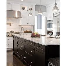 white shaker kitchen cabinets with granite countertops. Kitchens - Gray Walls White Shaker Kitchen Cabinets Black Granite Counter Tops Ebony Island Carrara Marble Countertops Beveled Subway\u2026 With B