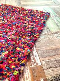 fair trade thick tufted reversible gy rag rug multi coloured cotton in home furniture rugs whole