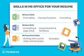 Resume In Powerpoint Microsoft Office Skills For Resumes Cover Letters