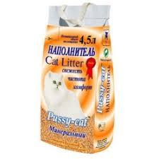 Купить Наполнитель <b>Pussy</b>-<b>cat минеральный</b> 4,5л в каталоге ...