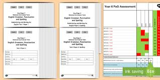 Spelling Test Template Simple Year 48 Grammar Punctuation And Spelling Test 48 Assessment Pack
