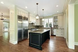 Black Kitchen Island White Marble Top Houzz Granite