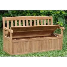 outdoor garden bench patio storage