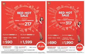 Airasias Red Hot Sale Is Back Fly From Cebu And Davao From