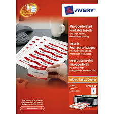 Avery Name Badges Laser Printable Refill Kit 8 Per Card W86 5xh55 5mm Ref L7418 25uk 25 Sheets