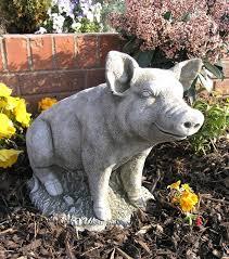 garden stone ornaments decor references micro pig garden ornament