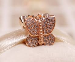 authentic pandora rose gold collection sparkling erfly charm bead 781257cz