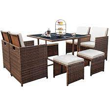 devoko 9 pieces patio dining sets