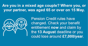 Pension Credit Entitlement Chart Mixed Age Couples Resources