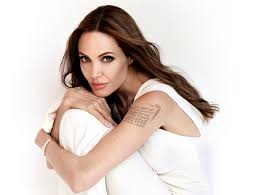 5041531 Tattoo Actress Angelina Jolie Brunette American Long